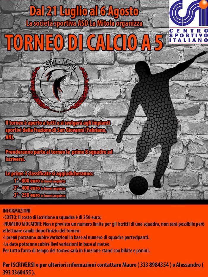 Torneo di Calcio a 5 di San Giovanni